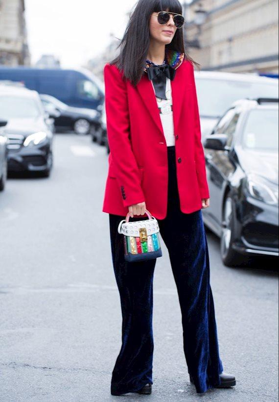 Модный образ в стиле Пижамный red jacket