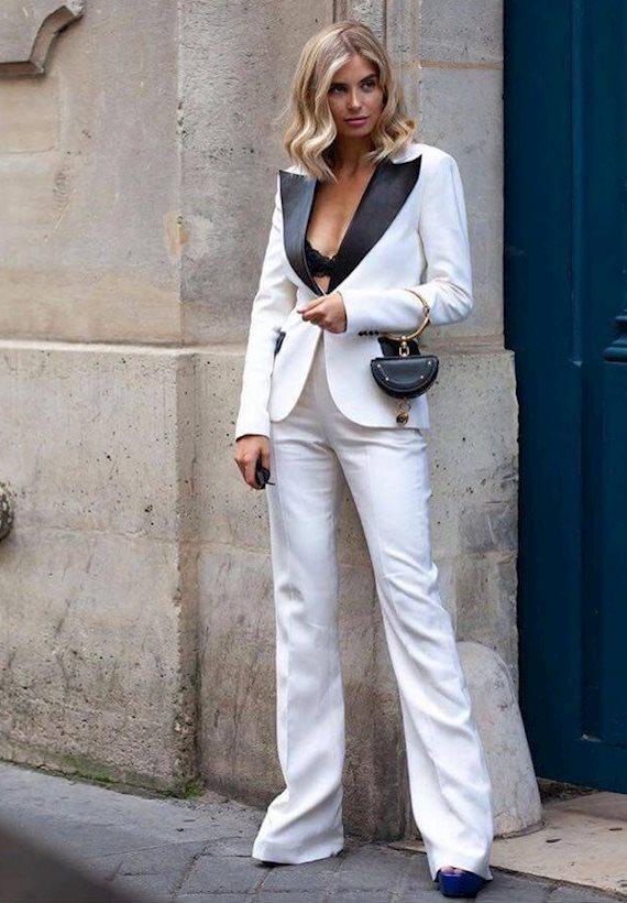 Модный образ в стиле Деловой white suit