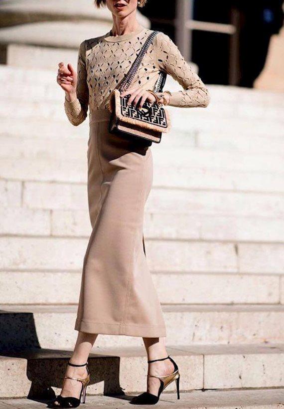 Модный образ в стиле городской шик elegance