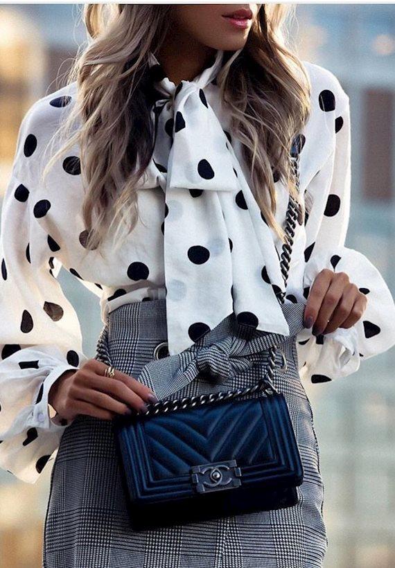 Модный образ в стиле Ретро Blouse