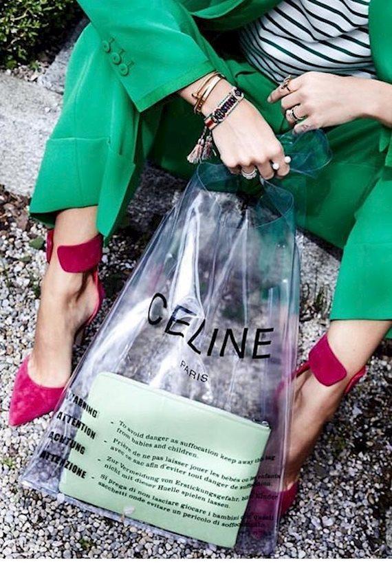 Модный образ в стиле гламур CELINE