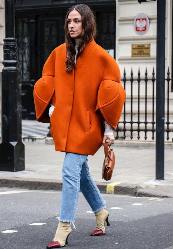 Модный образ в стиле casual cape
