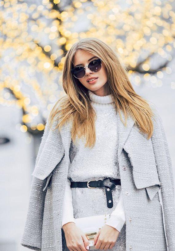 Модный образ в стиле Деловой Grey