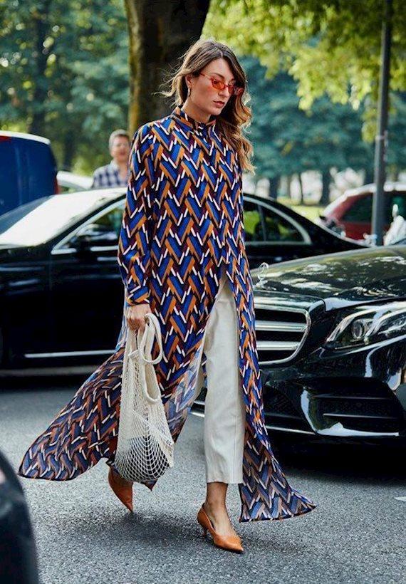 Модный образ в стиле минимализм tunic