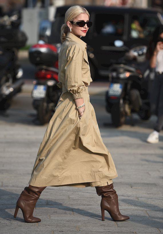 Модный образ в стиле casual trench