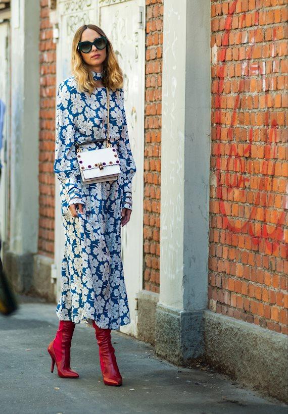 Модный образ в стиле Романтический maxi dress