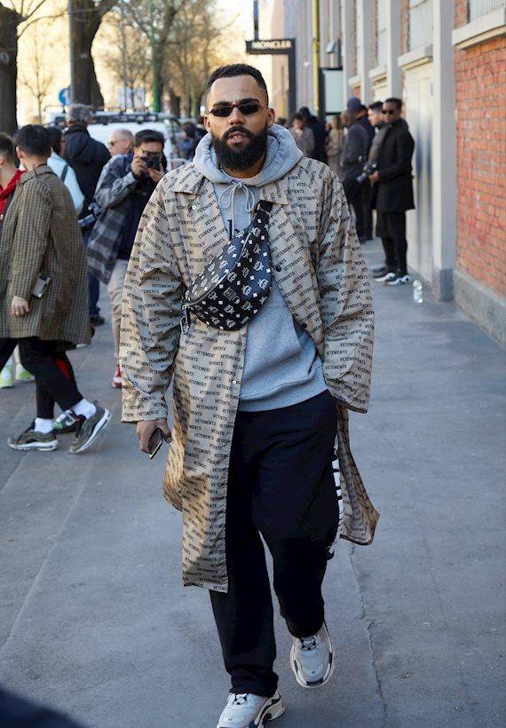 Модный образ в стиле Пижамный man fashion