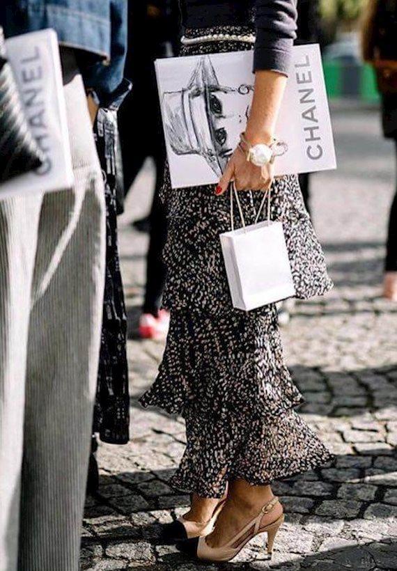 Модный образ в стиле гламур chanel
