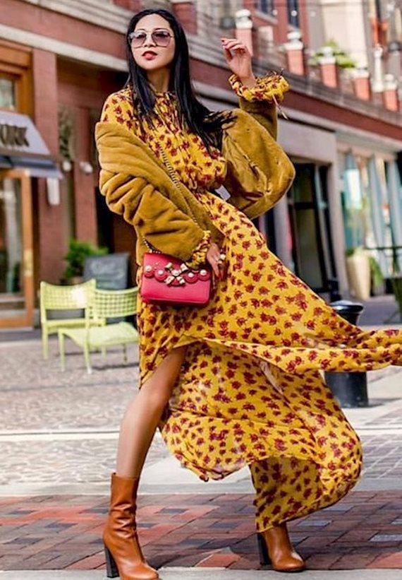 Модный образ в стиле гламур Chic