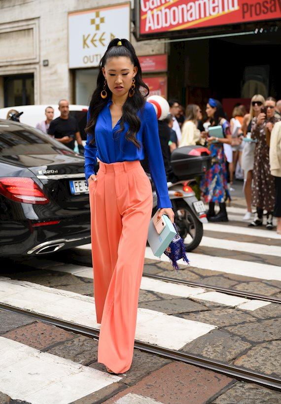 Модный образ в стиле Color block city vibes