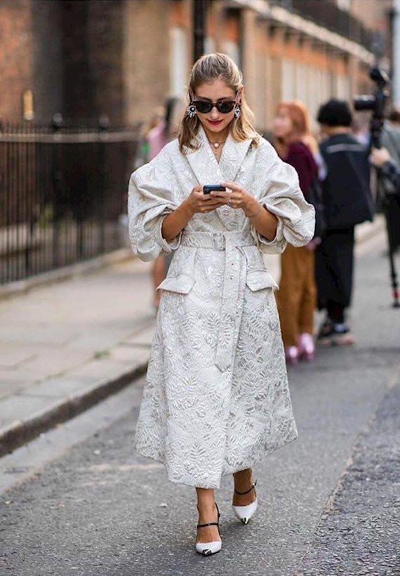 Модный образ в стиле Ретро London Fashion Week SS'19