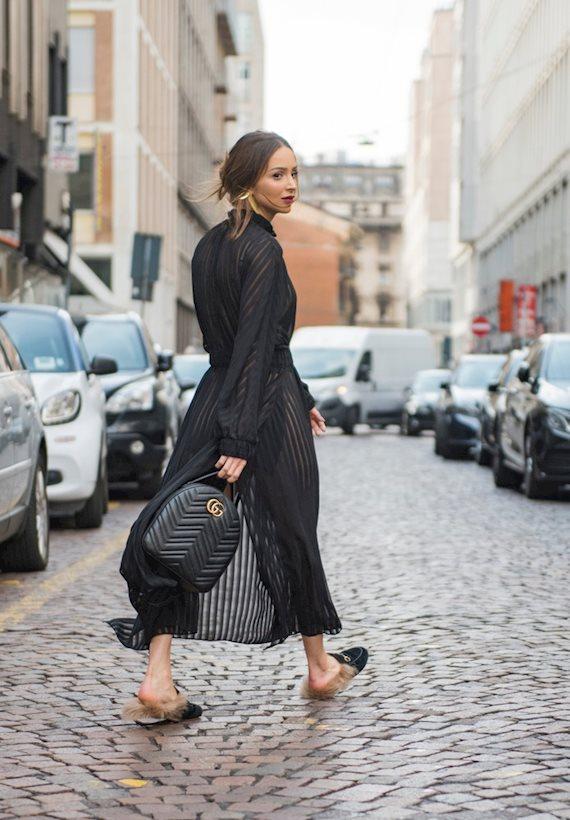 Модный образ в стиле casual total black