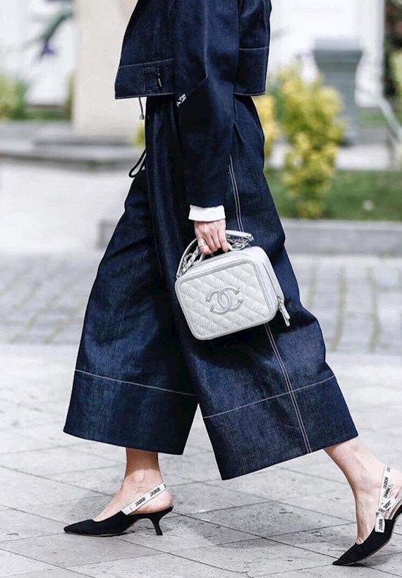 Модный образ в стиле деним Culottes