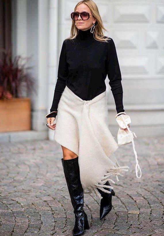 Модный образ в стиле минимализм Fall'18