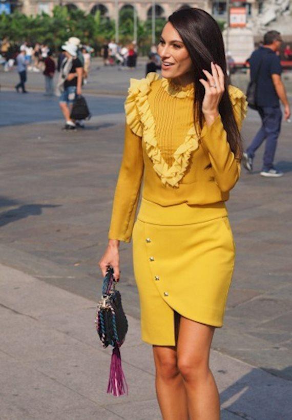 Модный образ в стиле Романтический yellow set