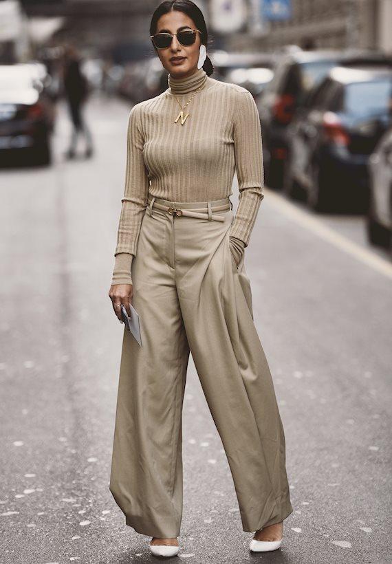 Модный образ в стиле Деловой wide leg pants