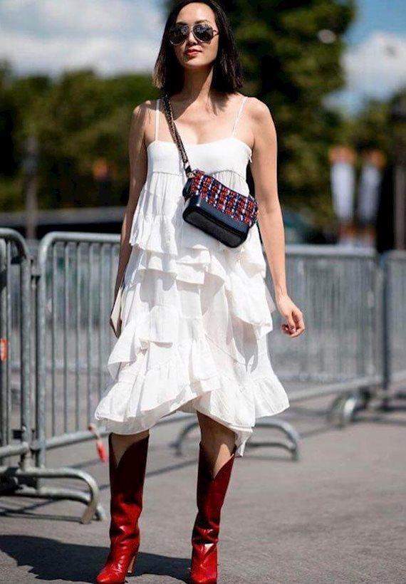 Модный образ в стиле Travel red boots
