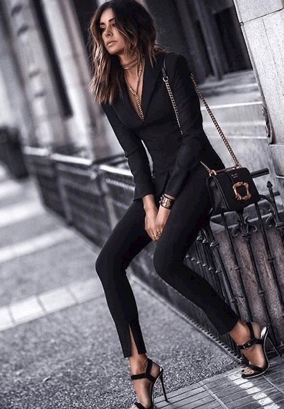 Модный образ в стиле Классический In black