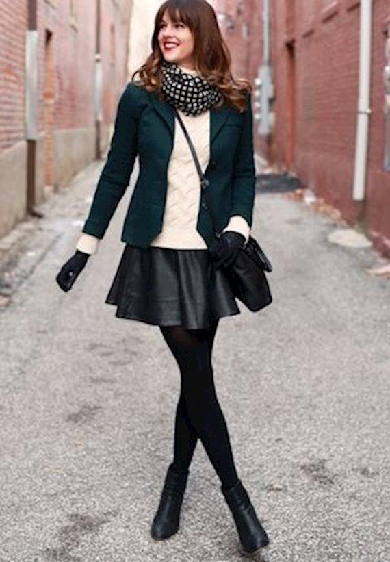 Модный образ в стиле business casual Short black