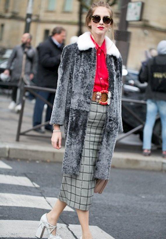 Модный образ в стиле гламур fur coat