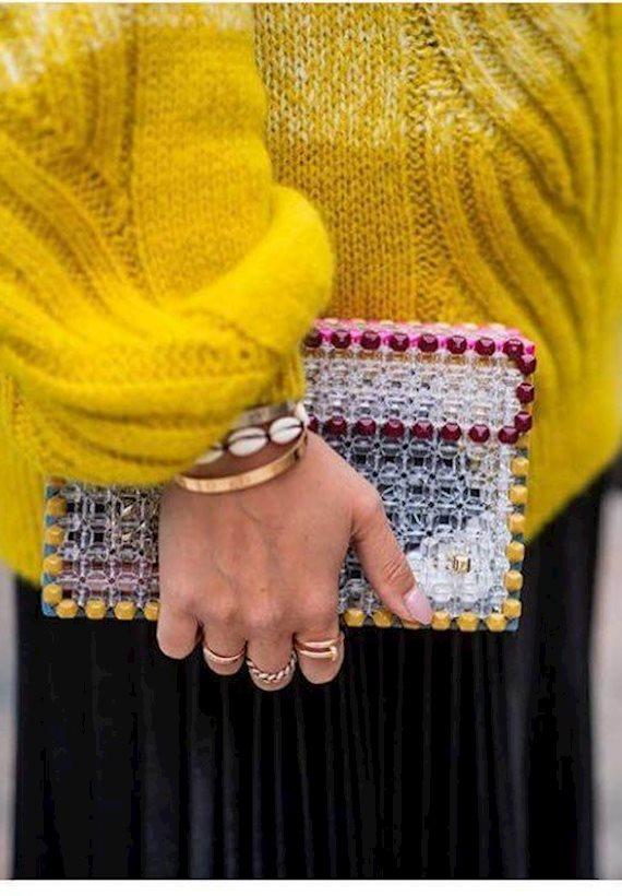 Модный образ в стиле гламур clutch