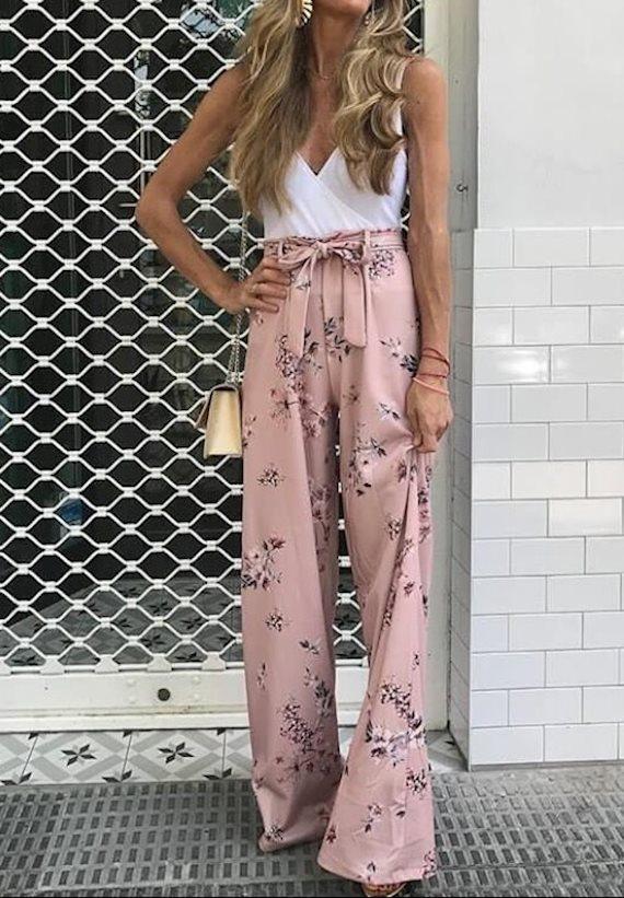 Модный образ в стиле Пижамный Wide leg pants