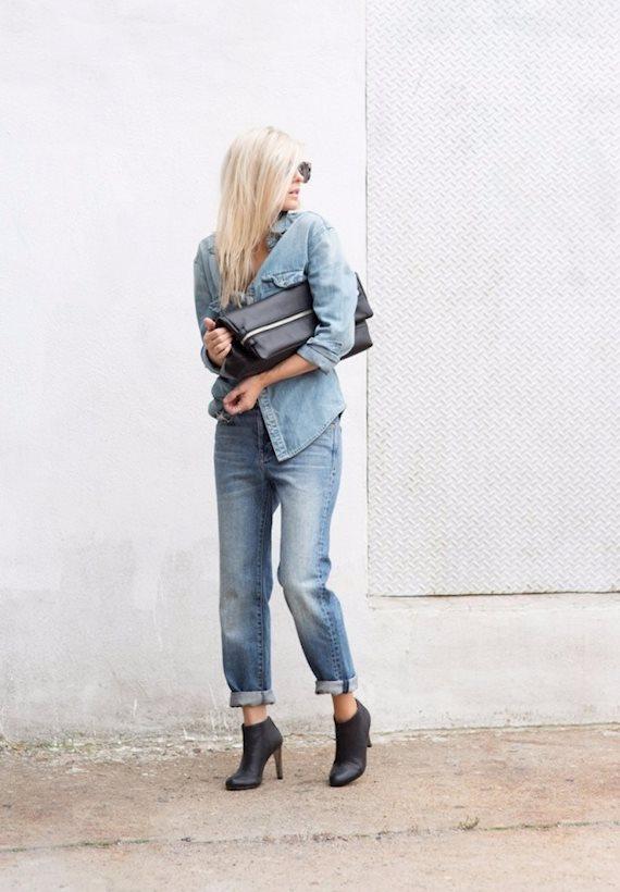 Модный образ в стиле нормкор Boyfriend jeans