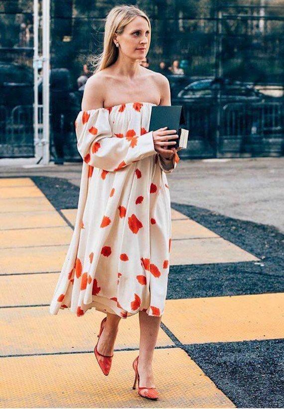 Модный образ в стиле городской шик midi dress
