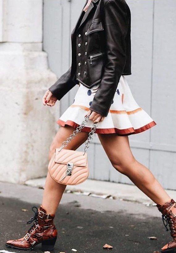 Модный образ в стиле Кантри leather jacket