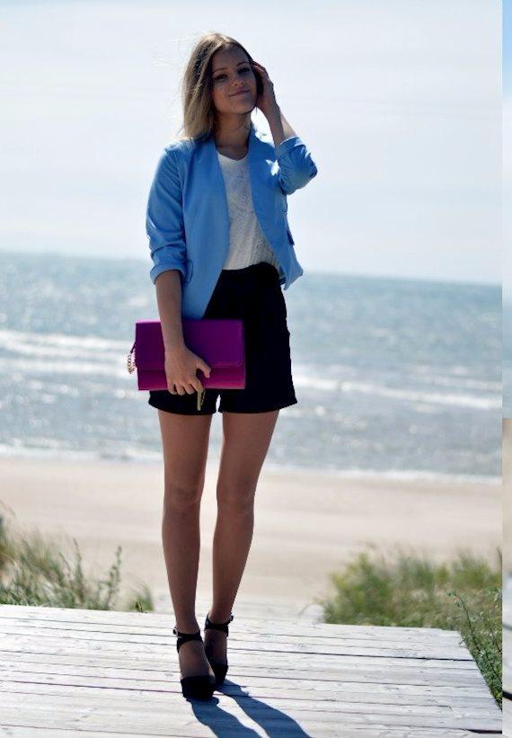 Модный образ в стиле business casual Bright accent