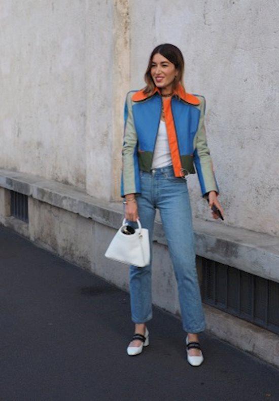 Модный образ в стиле casual leather jacket