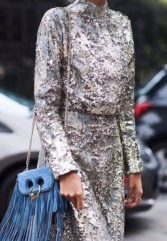 Модный образ в стиле гламур sequins