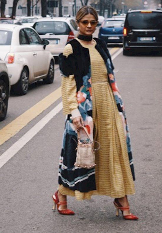 Модный образ в стиле городской шик fur vest