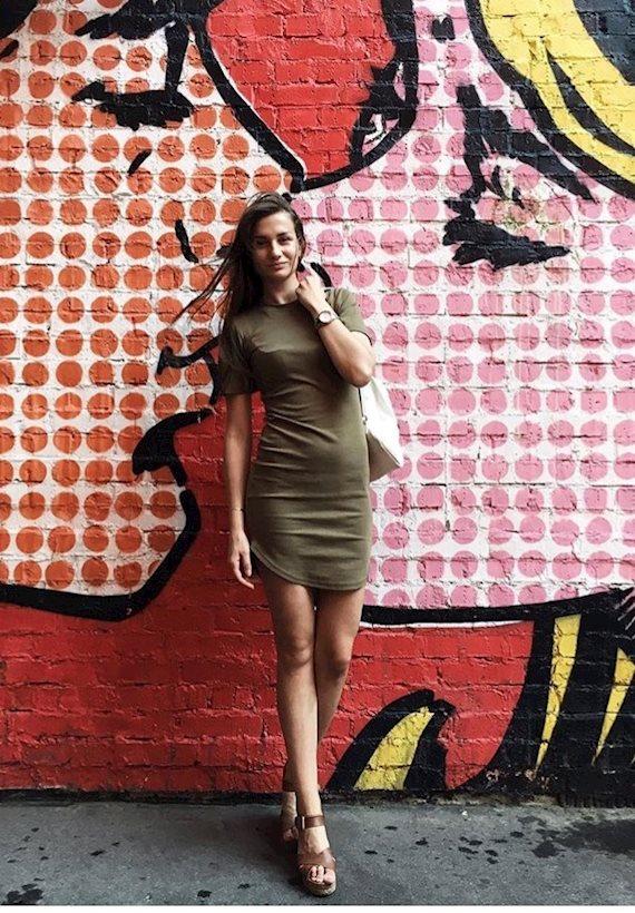 Модный образ в стиле милитари Street Art