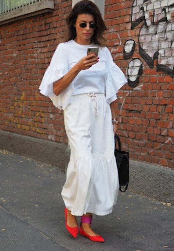 Модный образ в стиле casual white