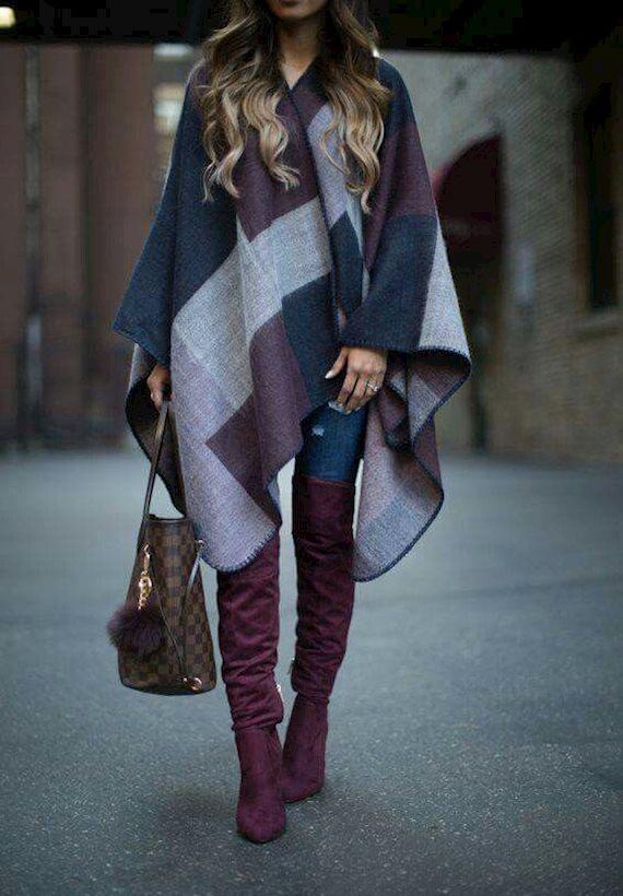 Модный образ в стиле Кантри Burgundi