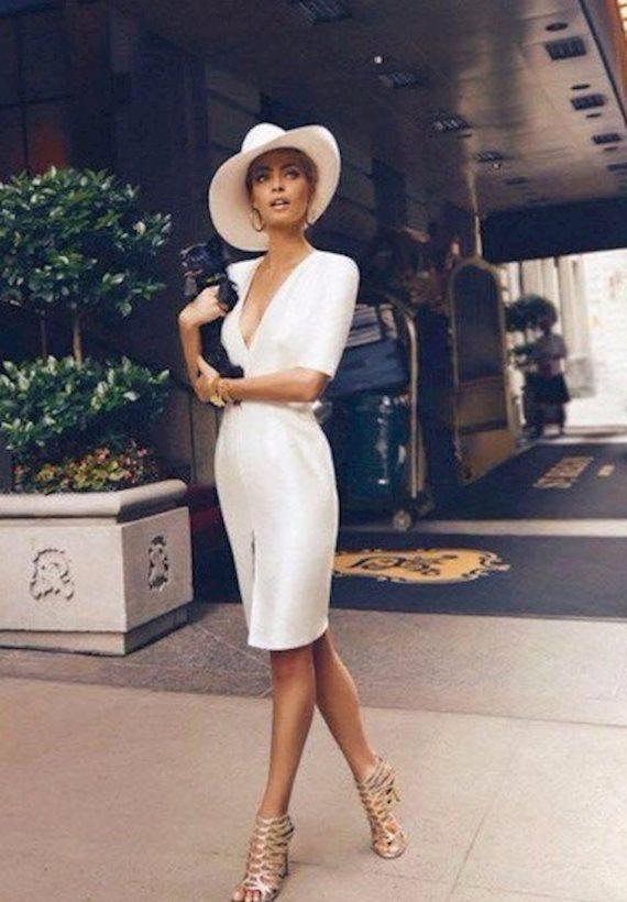 Модный образ в стиле business casual white