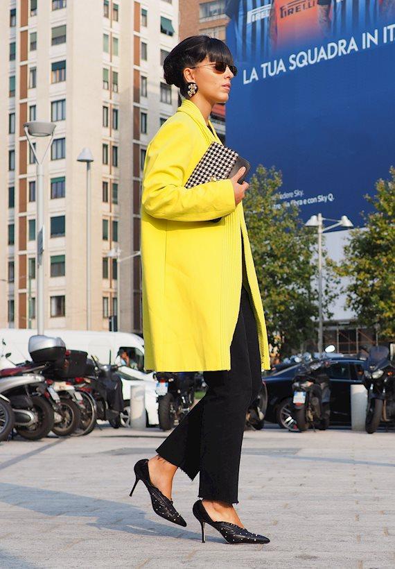 Модный образ в стиле casual yellow set