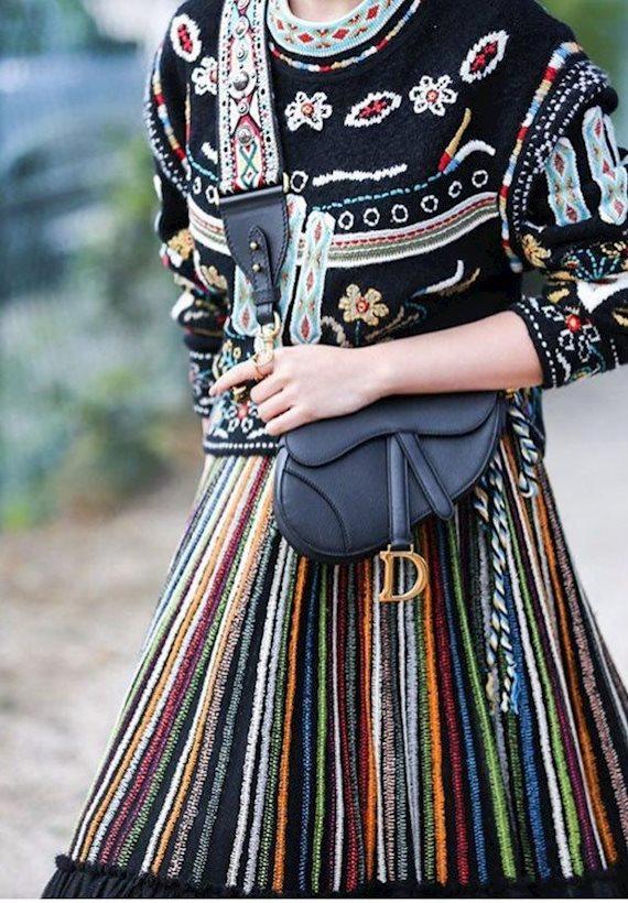Модный образ в стиле Ретро Paris Fashion Week SS'19