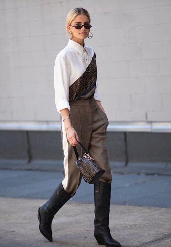 Модный образ в стиле городской шик Fendi