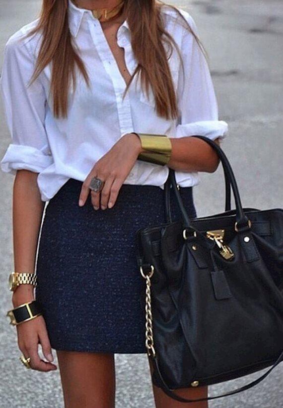 Модный образ в стиле минимализм White shirt
