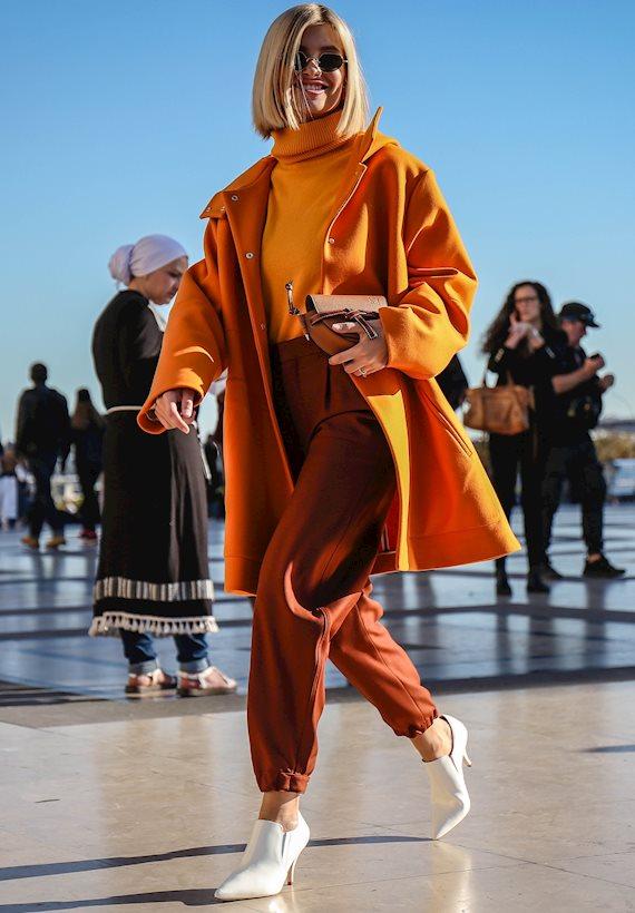 Модный образ в стиле Оверсайз orange color