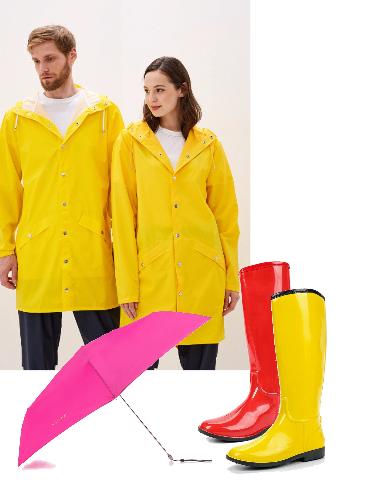 Яркая непогода - сеты модной одежды