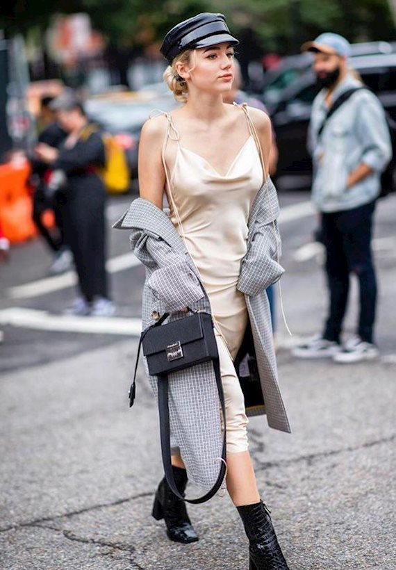 Модный образ в стиле коктейль New York Fashion Week SS'19