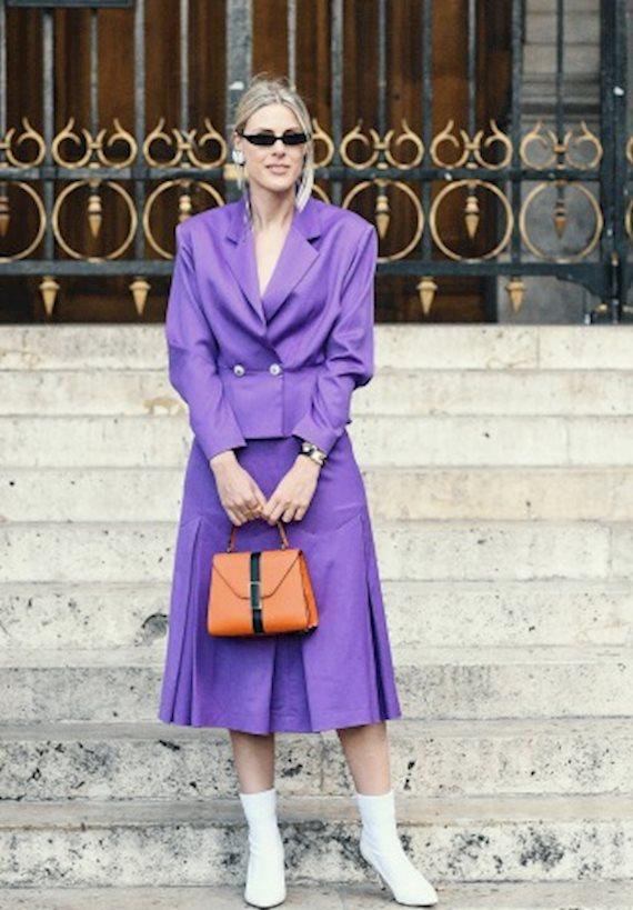 Модный образ в стиле Деловой violet