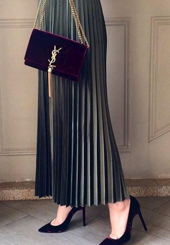 Модный образ в стиле гламур YSL