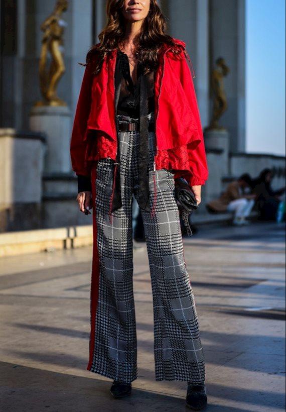 Модный образ в стиле Street style flared pants