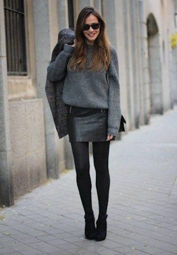 Модный образ в стиле Глэм-рок Grey mood