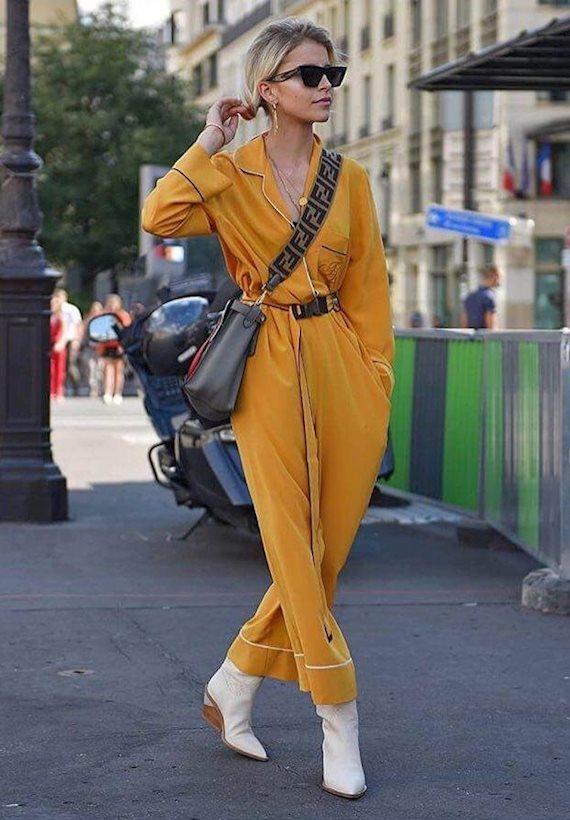 Модный образ в стиле Пижамный jumpsuit