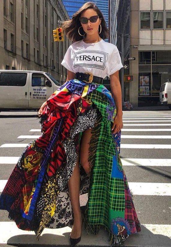 Модный образ в стиле городской шик Versace
